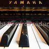Yamaha piano keyboard wide perspective
