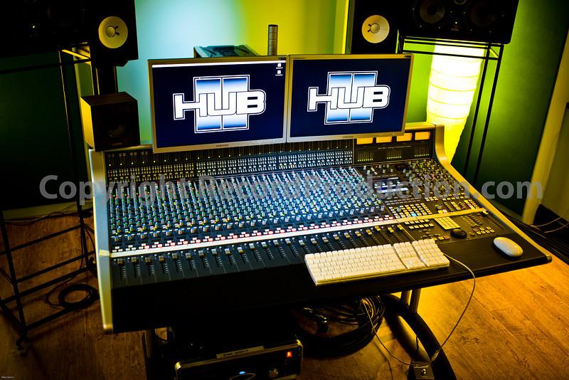 SSL AWS 900+ mixing console in recording studio