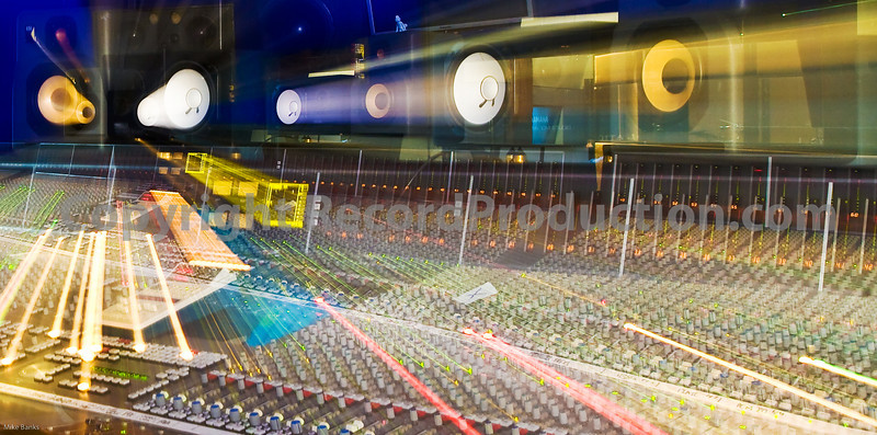 May delete this on, not quite right.<br /> <br /> No Photoshop used, flash with long exposure zoomed out for effect<br /> <br /> Hook End Manor Studios, featuring SSL J Series console - 96 channels big.