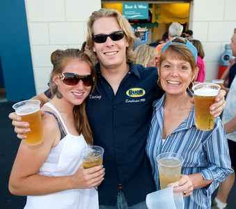 Tori Vogel, Lance Pfau and Robin Quallen of Milford  at Riverbend for Eric Clapton