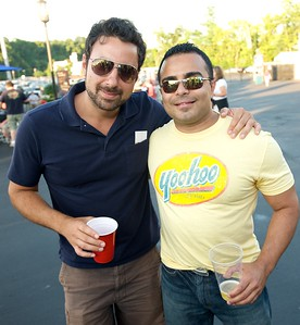 Ramzi Muasher and Wally Khoury of Cincinnati at Riverbend for Eric Clapton