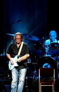 Eric Clapton performs at Riverbend on Wednesday