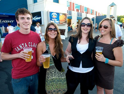 Patrick Frohoff, Tabitha Brittingham, Jessica MacLeod and Becky Blake from Lexington, KY at Riverbend for Eric Clapton