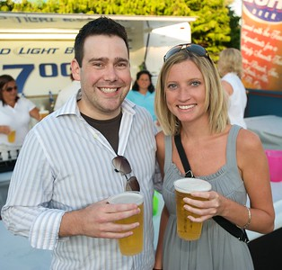 Luke Celler and Stacey Harrington of Cincinnati at Riverbend for Eric Clapton