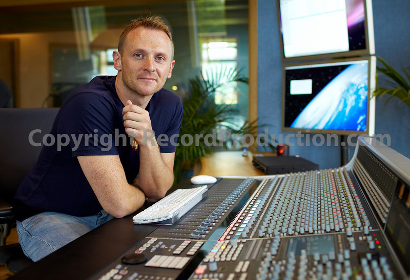 Peter Maher at the SSL AWS 900+ mixing console in his new recording studio in the heart of Ireland