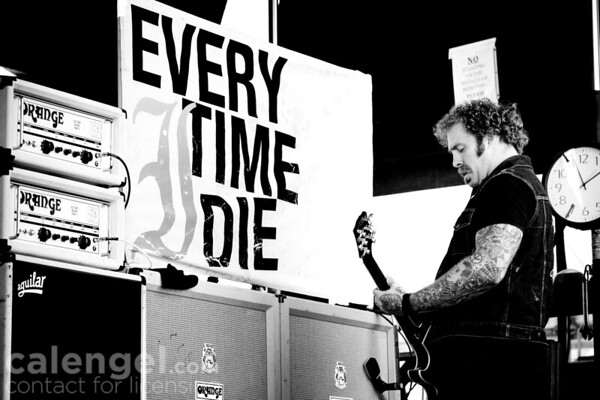 Every Time I Die perform live at Vans Warped tour in Milwaukee, WI on 07/29/10