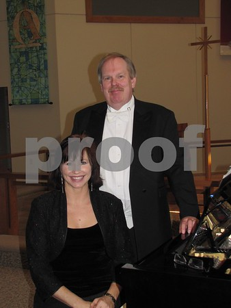 Michelle Havlik-Jergens, pianist, and Bruce Perry, conductor and music director of the Fort Dodge Choral Society.