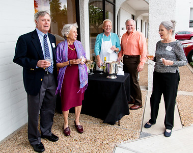 Arriving at the Nolan-Rankin Gallery: Andy Hero, Carol Lienhard, Bill Patterson, Stephen Smith, and Jeannie Hero