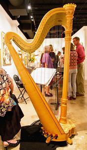 The group seen through the harp
