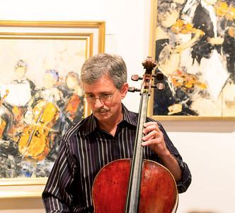 Barrett Sills playing 'cello