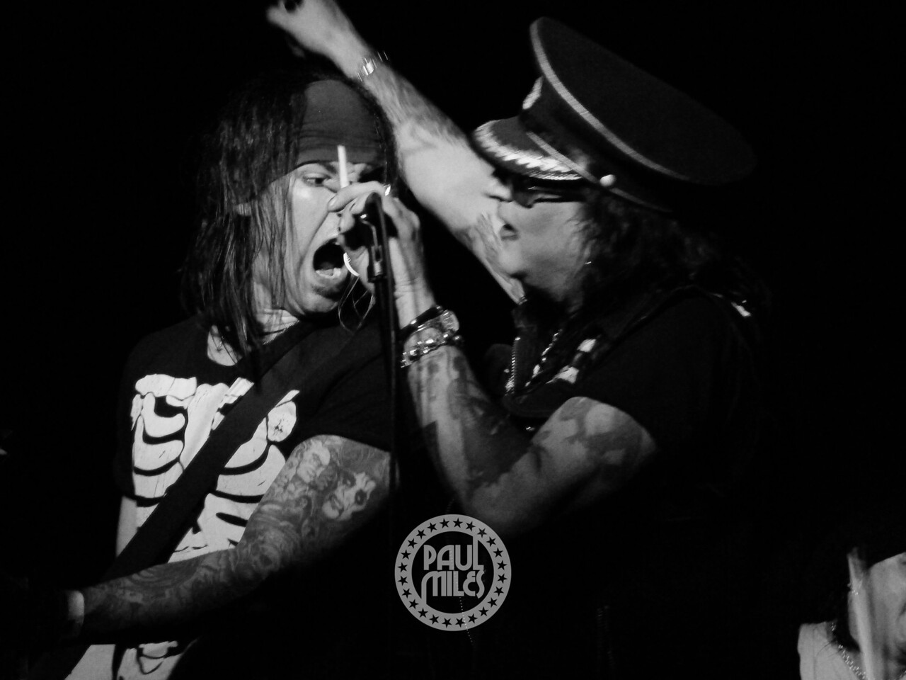 Ace Von Johnson with Taime Downe.