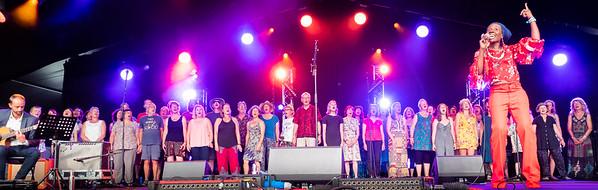 Cambridge Folk Festival 2019 - SING4SANE, Melissa James plus festival choir from a workshop