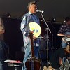 Art Napoleon welcomes the crowd to Folk West 2011