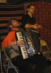 Patrick Farrell, accordionist, dedicated the next piece to Dave and Helen...