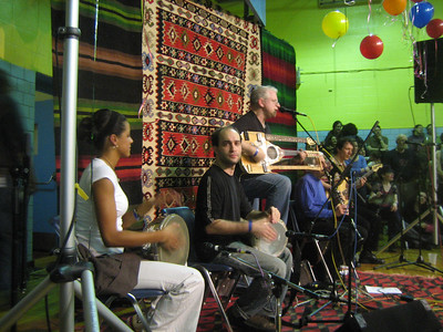 Efendi with Scott Wilson on his homemade oud, Leni Cohen on dumbek,  Jim Nordstrom, bass.  Turkish, Armenian, Greek, and Arabic music.