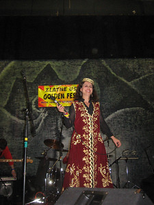 "Merita Halili, the ""Queen of Albanian Folk Songs"", on the main stage"