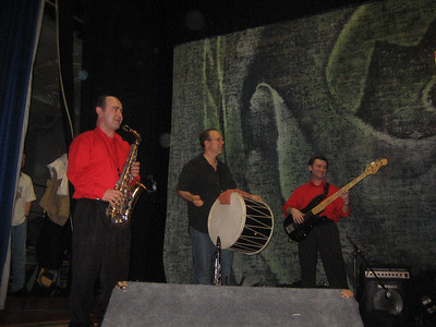 Jerry Kisslinger, tupan, joins in with the Raif Hyseni Band
