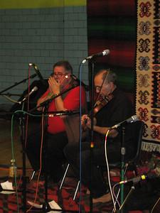 John Parrish and Miamon Miller, with Italian Village Dance in the Kafana.