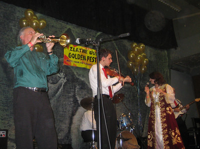 Michael Ginsburg, truba, and Jesse Kotansky, violin, performing with Merita
