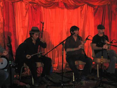 Note the instrument in Calvin Lai's hands: an erhu!   Greg Jenkins, clarinet (center).     MWE