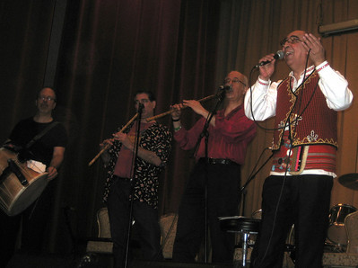 Dragi Spasovski (right) and friends. FYR Macedonian traditional songs.   Dragi said it was his first time at Golden Fest.
