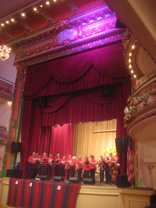 Welcome to the Grand Hall of the Grand Prospect Hall, Brooklyn.    Pajdashi singing Croatian music.