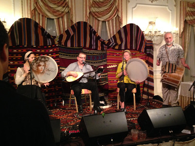 Amir Vahab Ensemble playing songs from the poetry of the Sufi Masters.   1:20pm, Rainbow Room. (http://www.tanbour.org/)