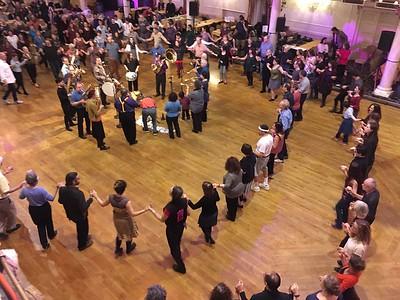 Friday night, Zlatne Uste playing in the Ballroom, Grand Prospect Hall, Brooklyn, NY.