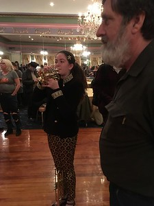 This young trumpeter asked to try Ken's pocket trumpet