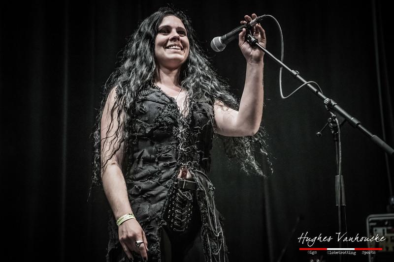 Presentatrice Tara Lowen - Ostrogoth (BEL) @ Headbanger's Balls Fest 2019 - CC De Leest - Izegem