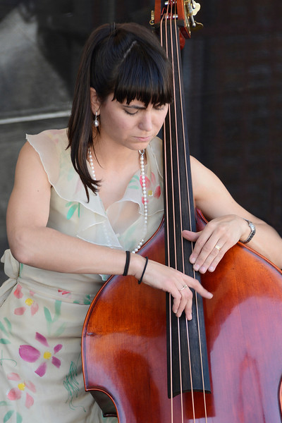 TD Victoria International Jazzfest free music in Centennial Square June 21, 2014 with Brandi Disterheft Quartet
