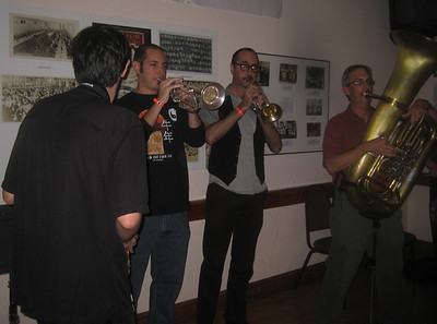 Fanfare Zambaleta, led by Greg Jenkins (left)
