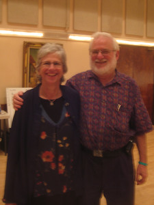 Surprise!   Karen Kalinsky and Stan Isaacs!   Karen and I both worked in the Stanford libraries decades ago.