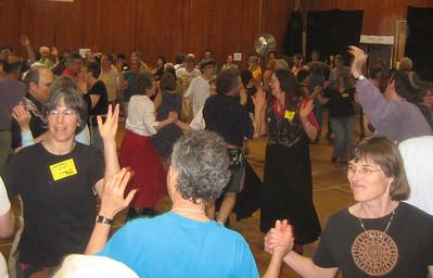Dancing to music by  Panharmonium. NEFFA 2006