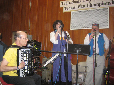 Gene on accordion and vocals; Dinah and Christopher vocals.