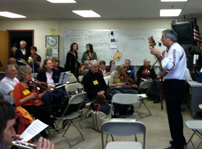 Bulgarian music jam, led by Ralph Iverson