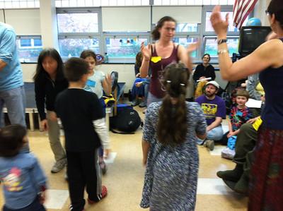 Singing games for children.