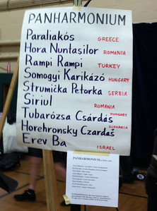 Our playlist for NEFFA 2012. We had only a short set (35 minutes) between Pajdashi (Croation) and Zornitza (Bulgarian), so we carefully selected tunes from other countries to complement their sets.