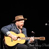 Nathaniel Rateliff performs solo acoustic selections for a small group of supporters of the Emeril Lagasse Foundation