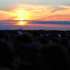Another awful sunset as the folk festival ends for another year.