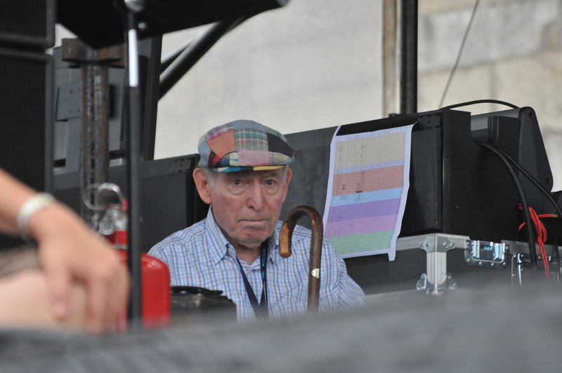 George Wein in the wings