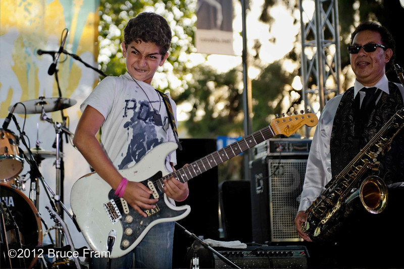 JC Smith, Ray Goren - Ray is 12 years old!  He played with JC Smith. San Jose Jazz Festival 2011