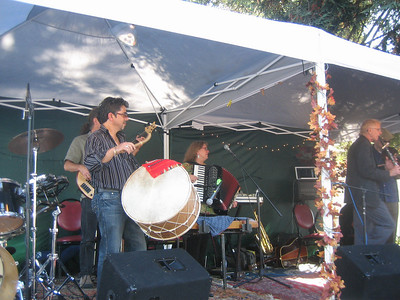 Rumen Sali Shopov on drums (and vocals) with EDESSA.