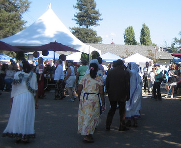 Eritrean women dancing