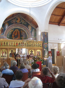 Sunday afternoon concert by young choir from another Orthodox church.  Beautiful choral music from Bulgaria, Rumania, Georgia, and Russia.