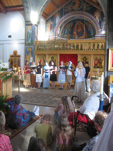Choir performances in Saint Seraphim Church