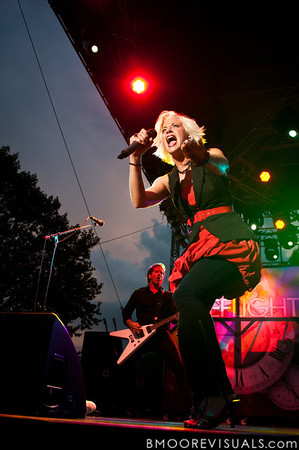 "Dawn Michele of Fireflight performs on September 11, 2010 during ""Rock The Universe"" at Universal Studios in Orlando, Florida"