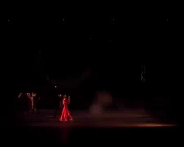 "Raffaella Fernandez Carrillo and the Studio Andalucia dance group performing a bulerias titled ""Baluarte de los Martires""."