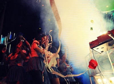 The Flaming Lips, On stage Dancers,The Ryman Auditorium, Nashville,Tennessee,2011