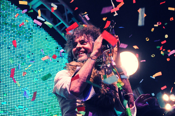 Wayne Coyne, The Flaming Lips, New Years Freakout 5, Night 2. January 1, 2012. Oklahoma City,Oklahoma